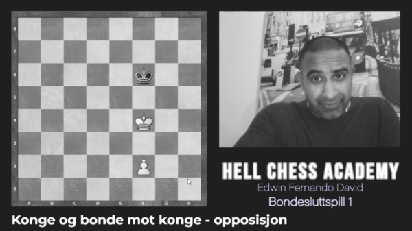 Farmer ending game with king and farmer against king (opposition).