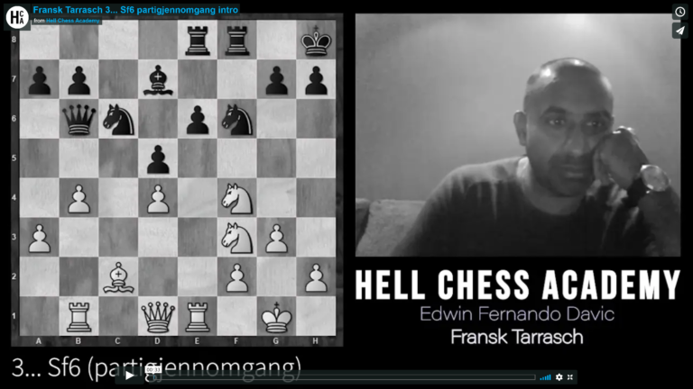Fransk Tarrasch 3… Sf6 partigjennomgang
