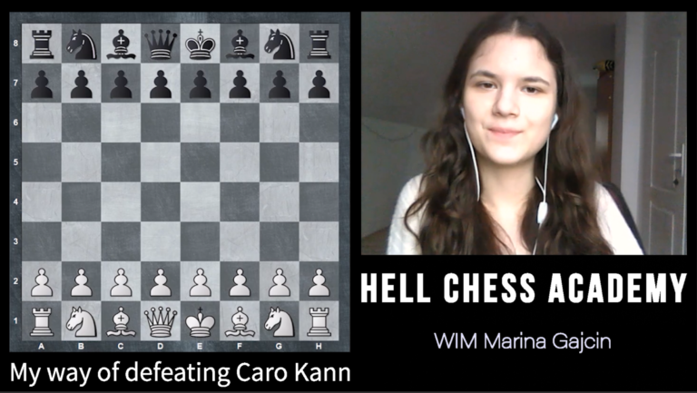 My way of defeating Caro Kann – WIM Marina Gajcin