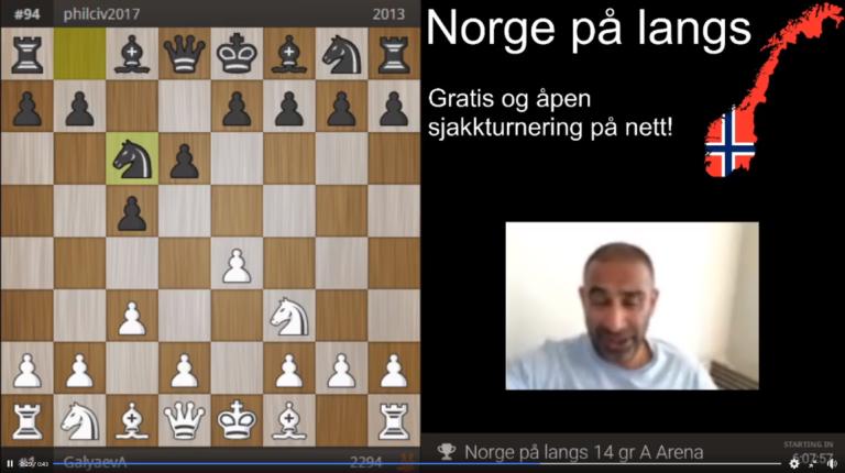 Norge på langs live  – Edwin Fernando David kommenterer