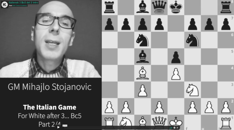 Italian for white after 3… Bc5