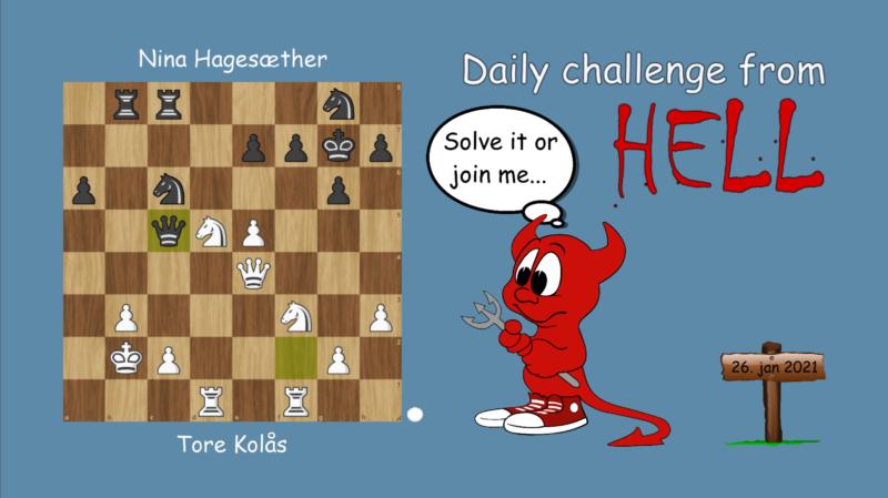 Dagens hjernetrim - sjakknøtt 9