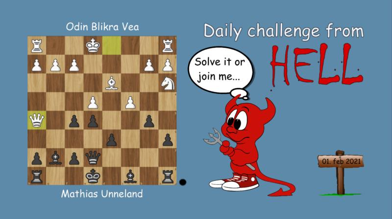 Dagens hjernetrim - sjakknøtt 15