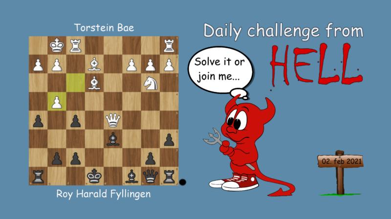 Dagens hjernetrim - sjakknøtt 16