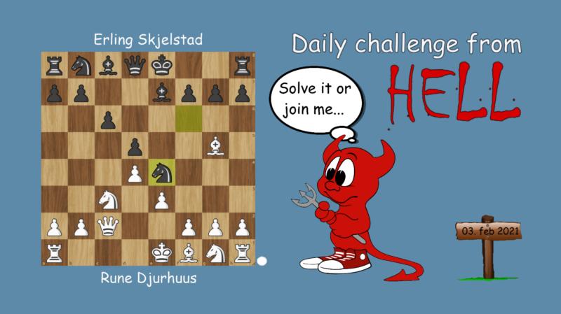 Dagens hjernetrim - sjakknøtt 17
