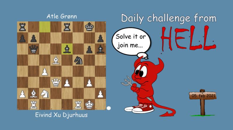 Dagens hjernetrim - sjakknøtt 19