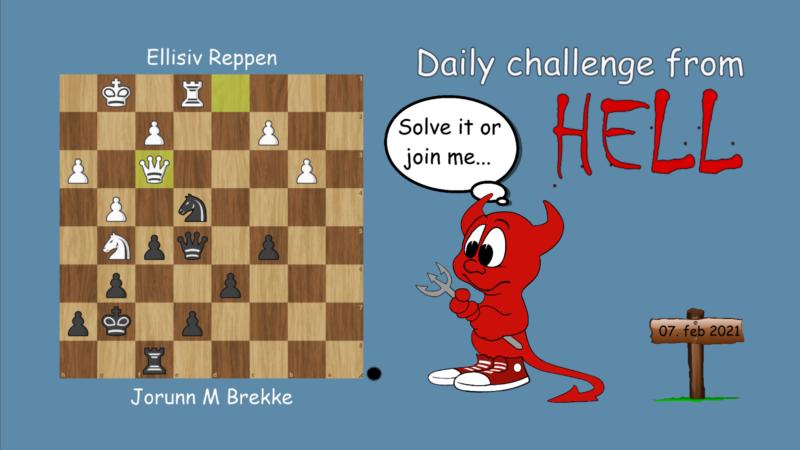 Dagens hjernetrim - sjakknøtt 21
