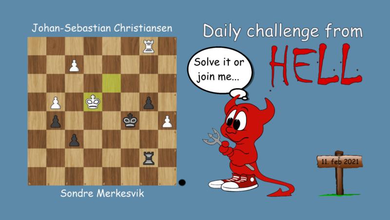 Dagens hjernetrim - sjakknøtt 25