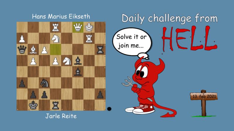 Dagens hjernetrim - sjakknøtt 27