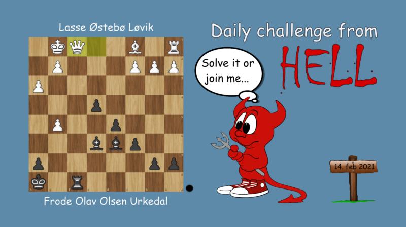 Dagens hjernetrim - sjakknøtt 28