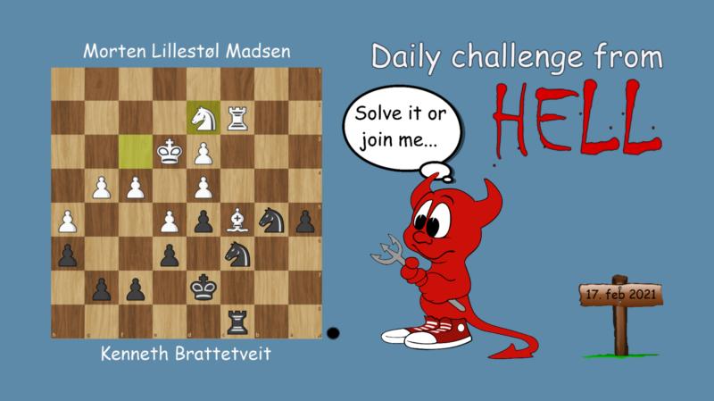 Dagens hjernetrim - sjakknøtt 31
