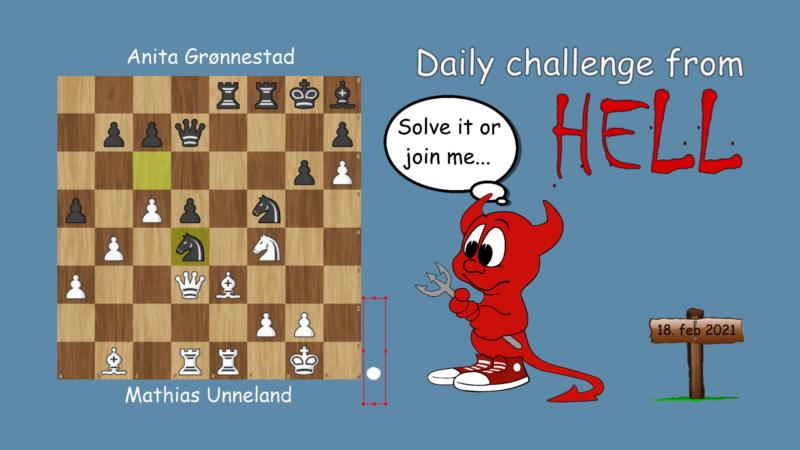 Dagens hjernetrim - sjakknøtt 32