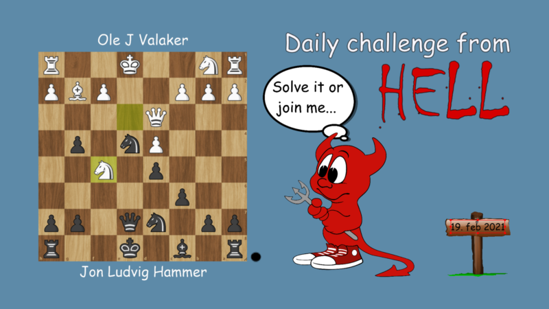 Dagens hjernetrim - sjakknøtt 33