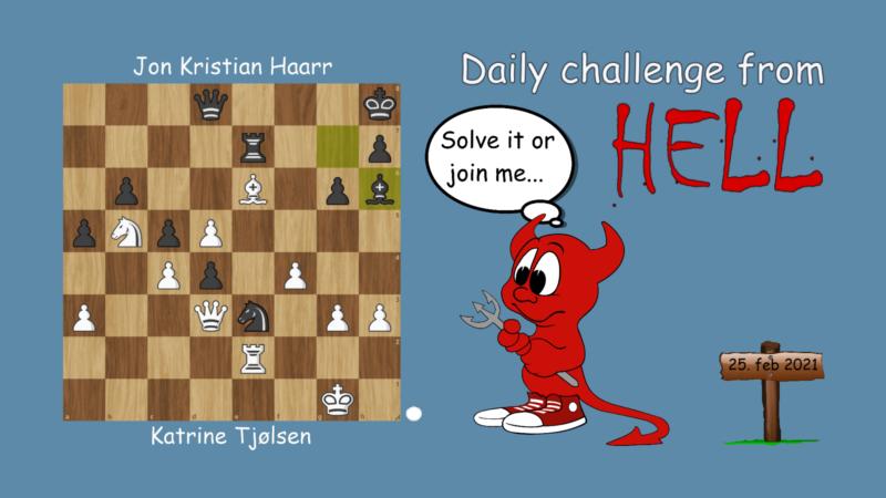 Dagens hjernetrim - sjakknøtt 39