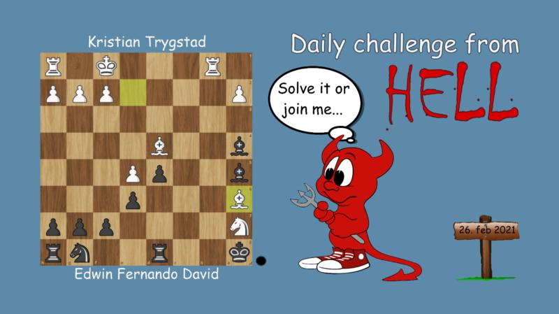 Dagens hjernetrim - sjakknøtt 40