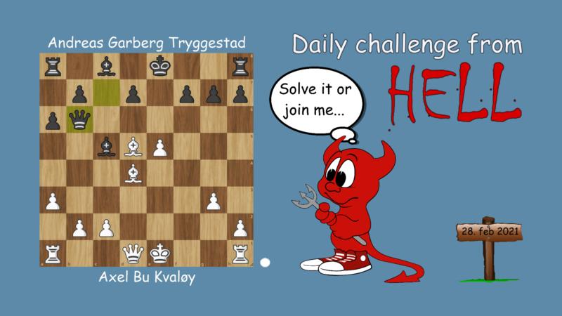 Dagens hjernetrim - sjakknøtt 42