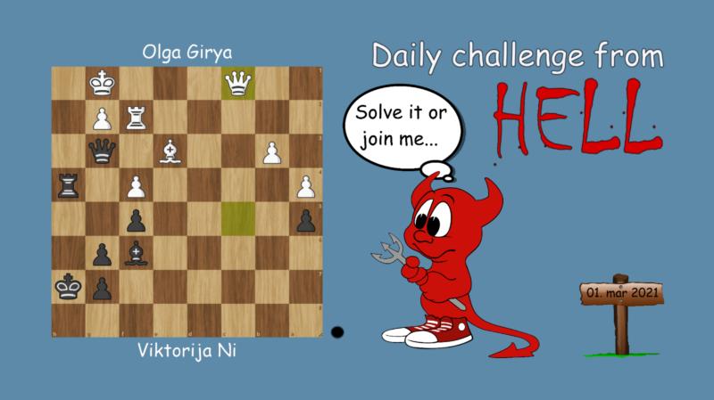 Dagens hjernetrim - sjakknøtt 43