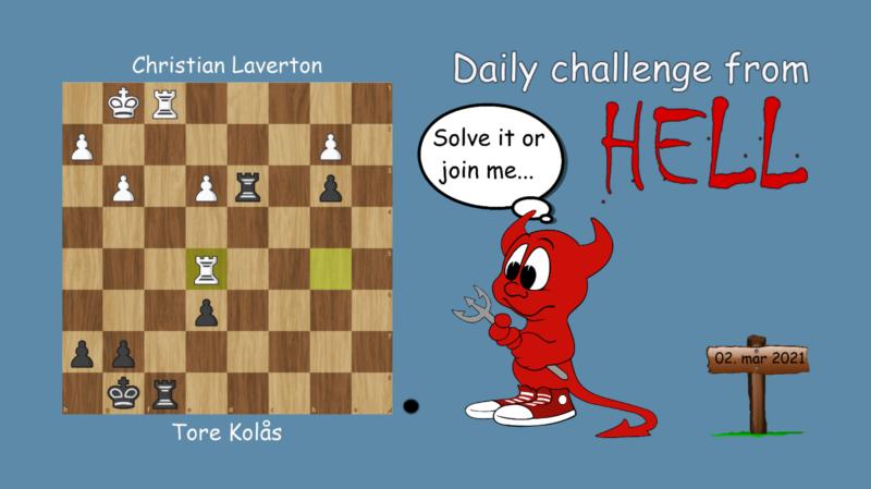 Dagens hjernetrim - sjakknøtt 44