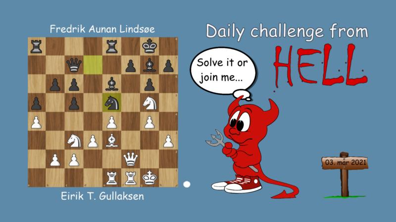 Dagens hjernetrim - sjakknøtt 45