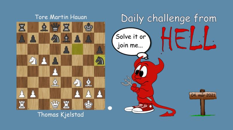Dagens hjernetrim - sjakknøtt 46 - spillsjakk