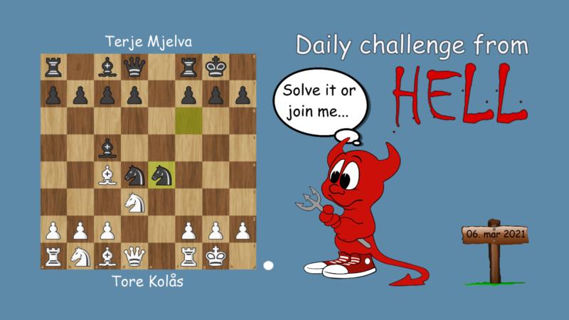 Dagens hjernetrim - sjakknøtt 48