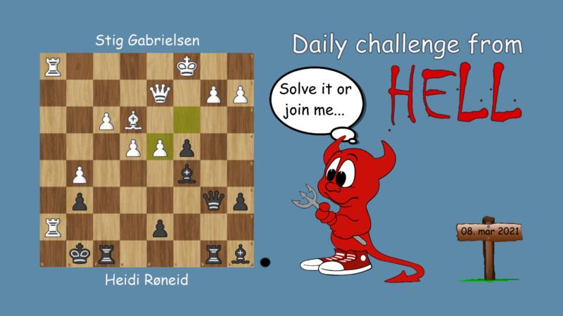 Dagens hjernetrim - sjakknøtt 50