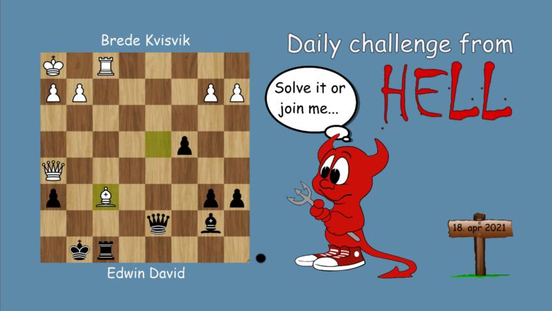Dagens hjernetrim - sjakknøtt 58