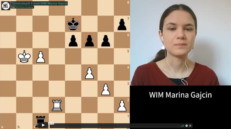 Tower endgame 4 with WIM Marina Gajcin